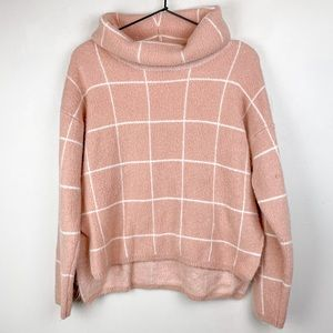 Lumiere Anthropologie Cowl Neck Sweater Pink M